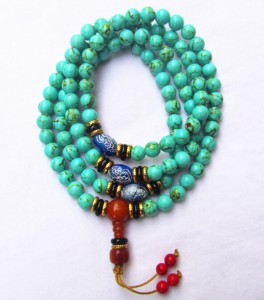 Turqiouse Mala with Spacers
