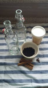 Ingredients for syrup recipe